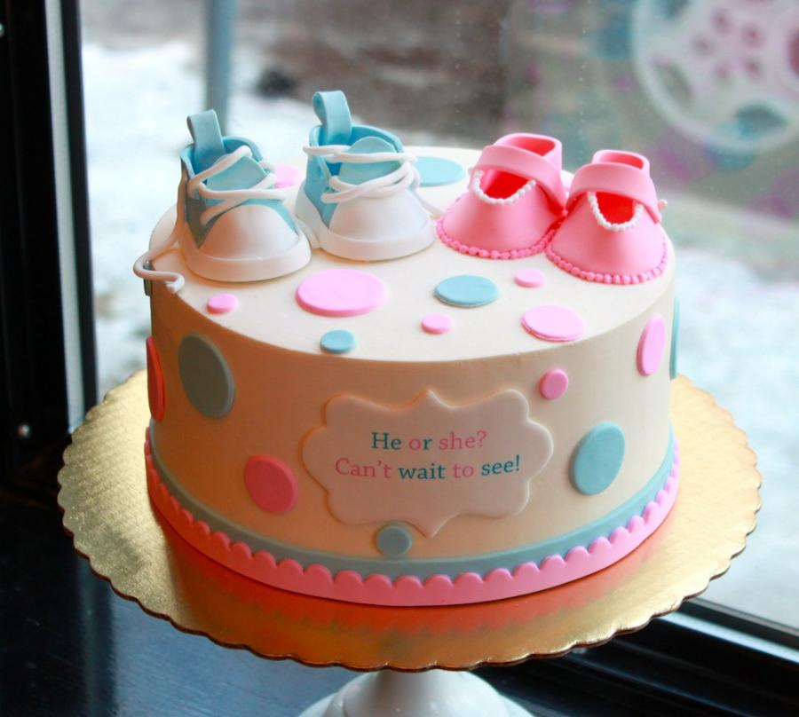 torta per baby shower gender reveal party