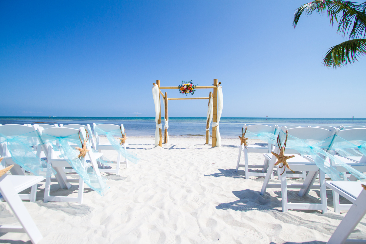 beach themed wedding ceremony