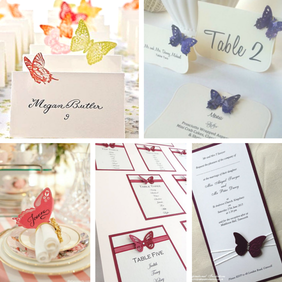 butterfly wedding stationery