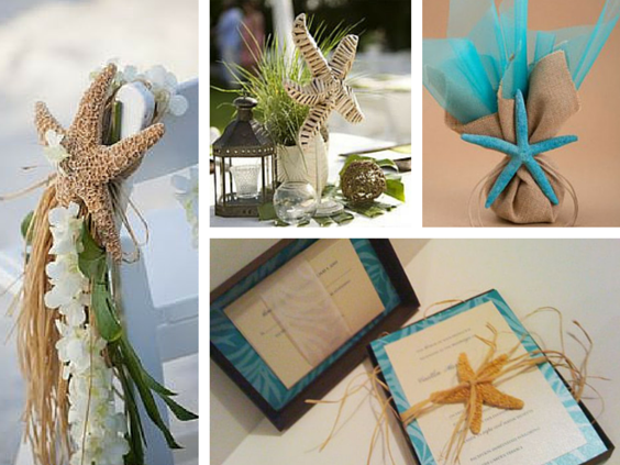 starfish decor for a beach themed wedding