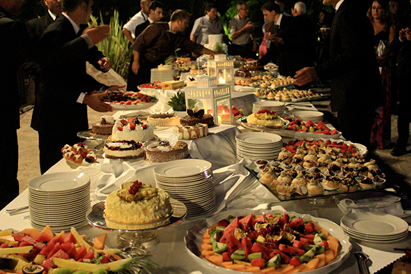 wedding buffet in masseria