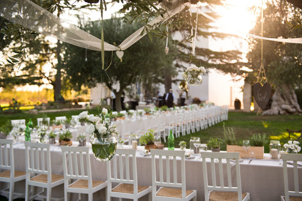 wedding reception in masseria